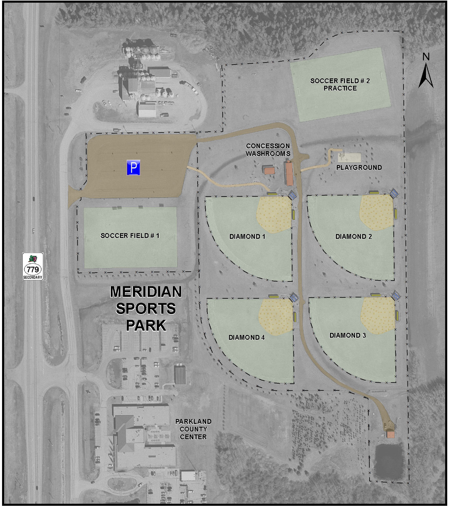 Meridian Sports Park facility map