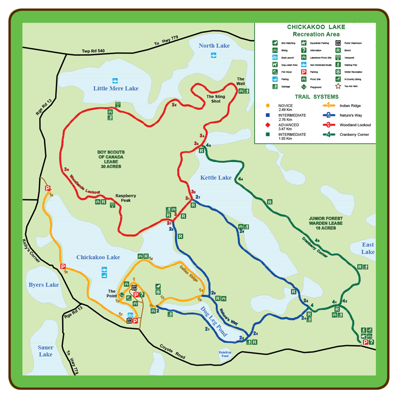 Chickakoo trail map