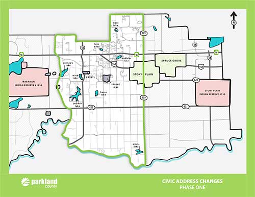 Parkland County Subdivision Maps Transition to Civic Addressing   Parkland County